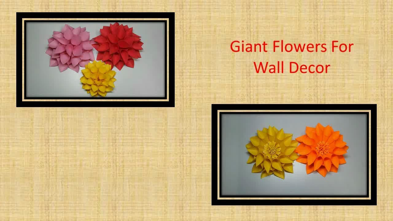 Giant paper flowers for Wall decor Room decor and Wedding decoration ...
