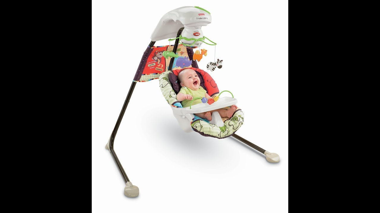 Review: Fisher-Price Cradle 'N Swing, Luv U Zoo - YouTube