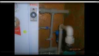 Двухконтурный напольный газовый котел. Парапетный газовый котел.