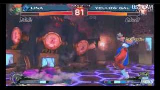 |EVO 2010| SSF4 - Lina (Blanka) vs. Yellow Gal (Chun-Li) - Women Finals