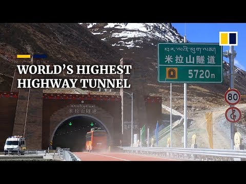 World's highest highway tunnel opens to traffic in Tibet