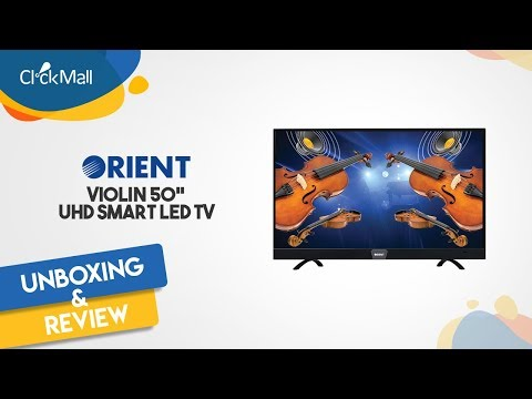 "Orient Violin 50"" Smart UHD 4K LED TV Unboxing l Clickmall"