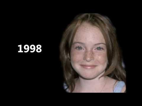 Lindsay Lohan 1998-2013 face morph