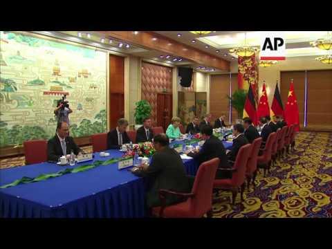 Merkel meets Xi during state visit to China