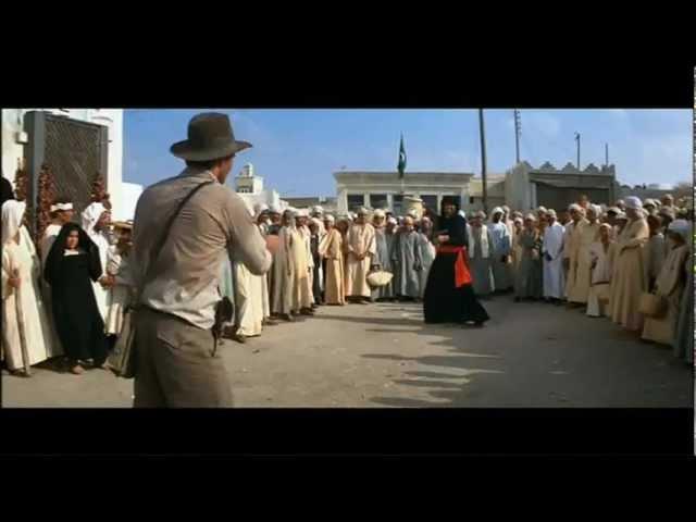 Indiana Jones - Arab Swordsman Scene - HOW TO WIN A SWORDFIGHT!