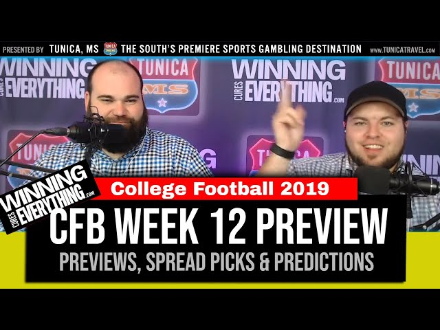 WCE: College Football Week 12 Preview & Spread Picks