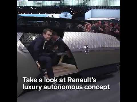 Renault S New Luxury Car Is Entirely Self Driving Youtube