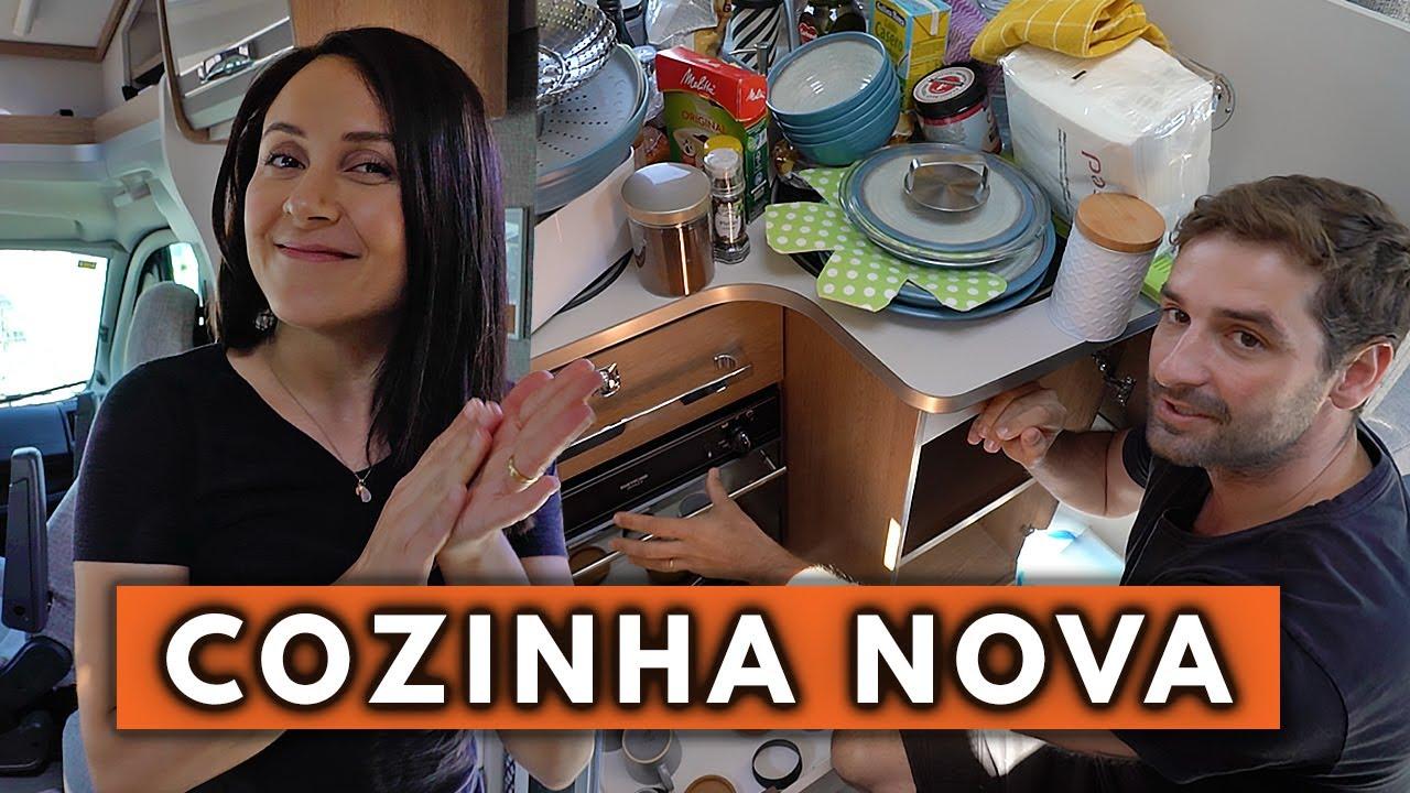 ORGANIZANDO A COZINHA  DO NOVO MOTORHOME | Travel and Share