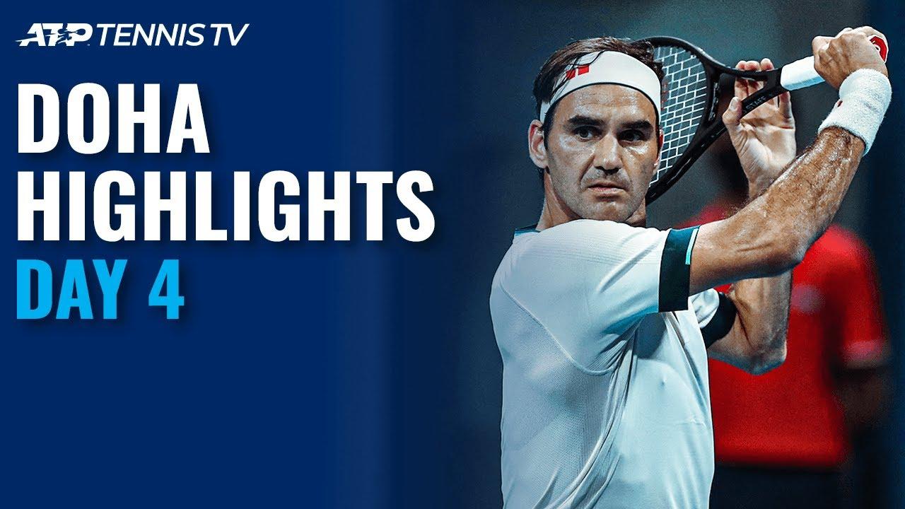 Federer Faces Basilashvili; Thiem vs Bautista Agut | Doha 2021 Day 4 Highlights