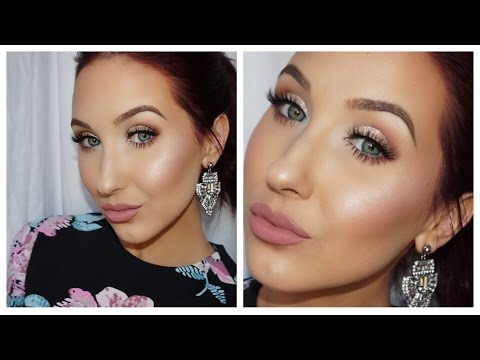 Valentines Day Makeup look | Girly Glitter Glam