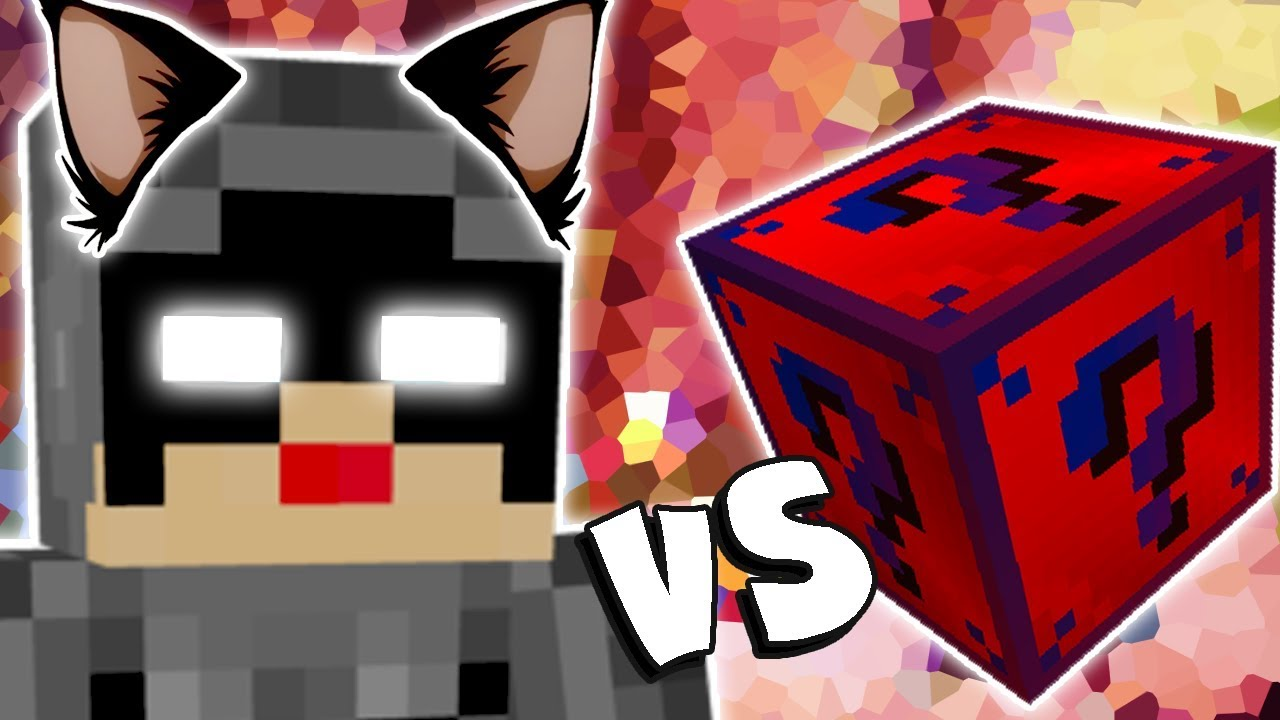 Mulher Gato Vs Lucky Block Super Heroi Minecraft Lucky Block