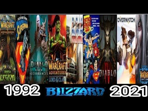 Evolution Of Blizzard Games 1991-2021
