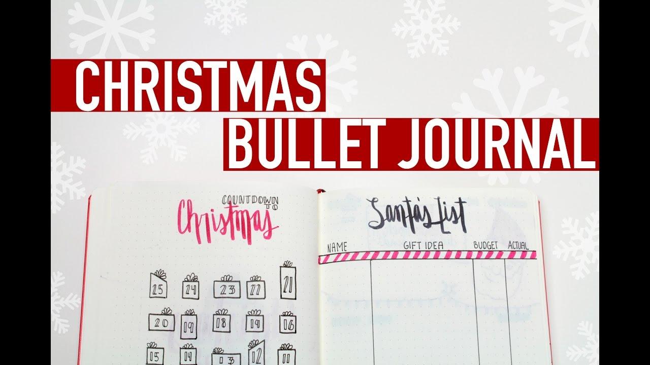 Christmas Bullet Journal Gift Tracker Christmas Countdown More Youtube