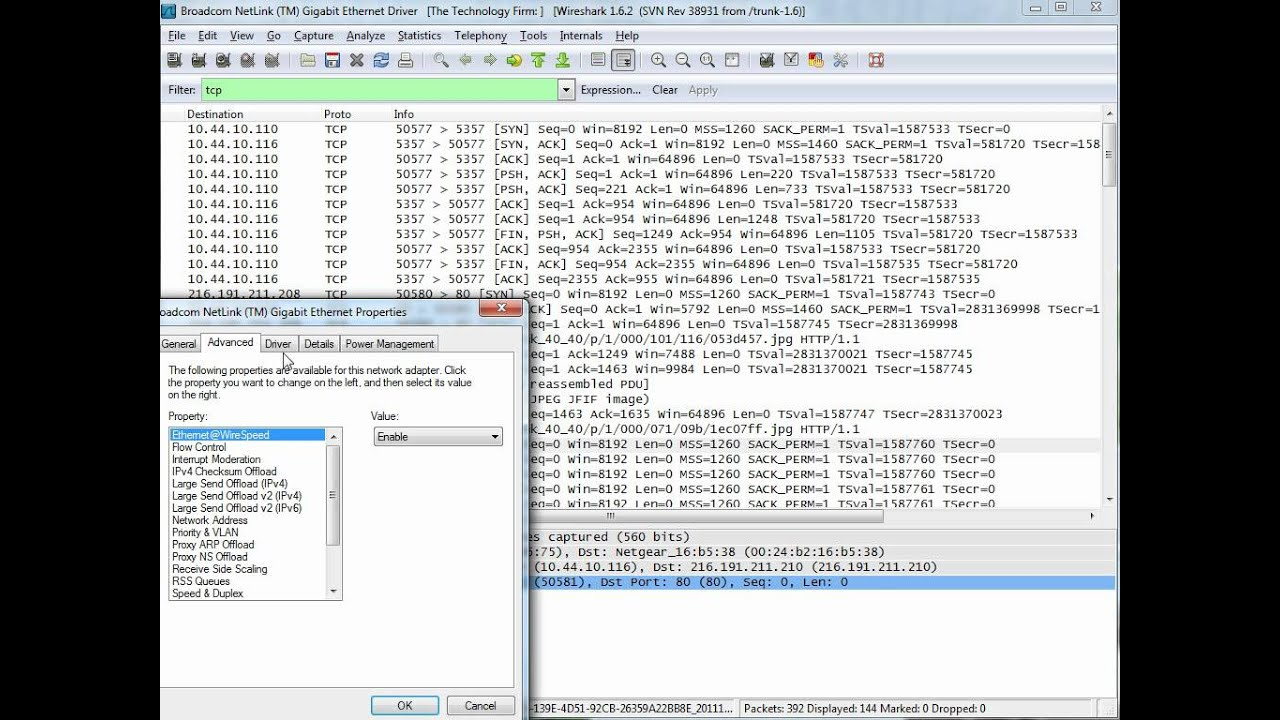 Wireshark TCP Checksums