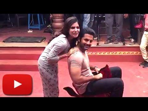 Nithin & Samantha's FUNNY VIDEO | A...Aa Sets | Lehren Telugu