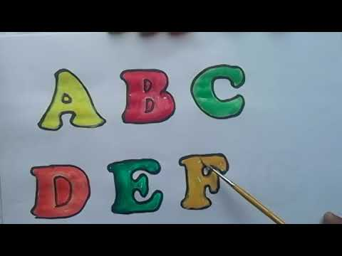 How To Draw Baby Alphabet Fun Coloring Pages For Kids