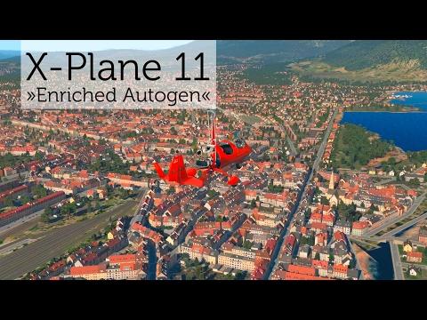 """X-Plane 11 """"Enriched Autogen"""" – Gyrocopter Flight around Annecy Hâute-Savoie (LFLP)"""