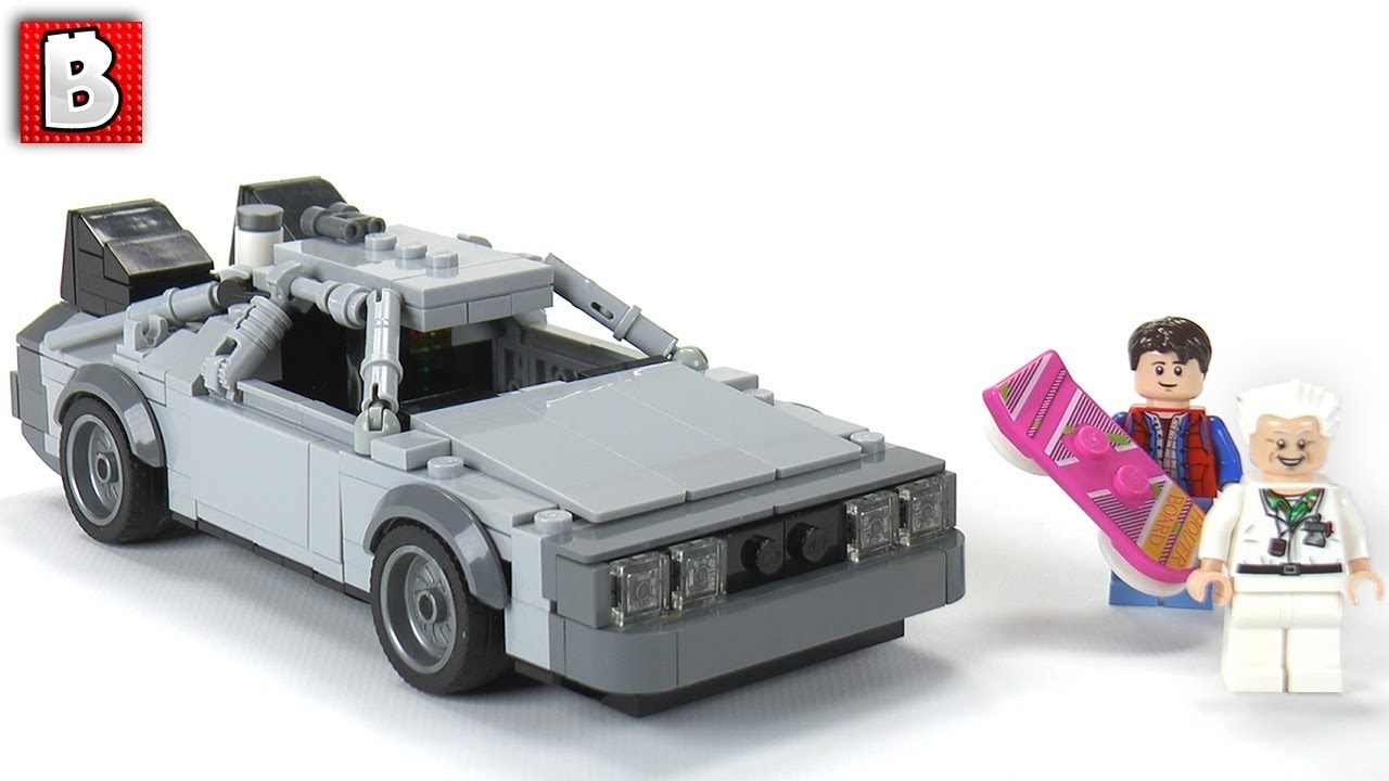 Lego Delorean Time Machine Moc Back To The Future Dmc 12