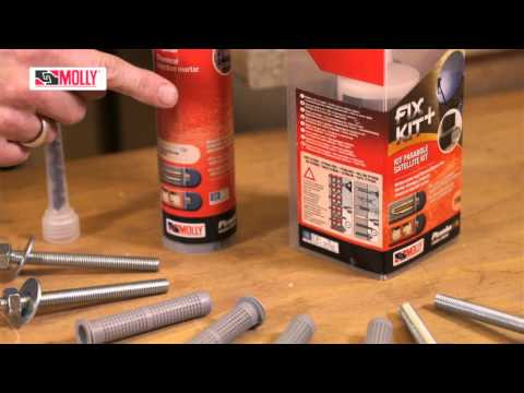 CHEMICAL FIXINGS - How to use Molly Chemical Fixings in Solid or Hollow Brick Walls