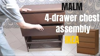 Malm 4 Drawer Chest Assembly Ikea Youtube