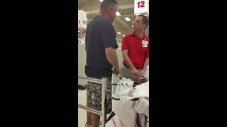 Racist Meijer superstore employee against MEXICANS