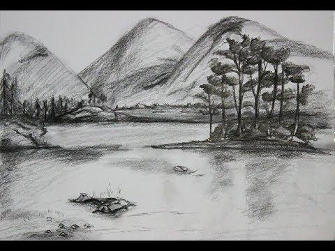43 gambar pemandangan pantai dengan pensil Gratis Terbaru