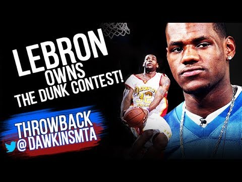 All DUNKS Of 2003 HS Dunk Contest - Young LeBron OWNS it! | FreeDawkins