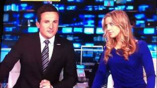 Millie Clode of Sky Sports blonde moment over Cesc Fabregas