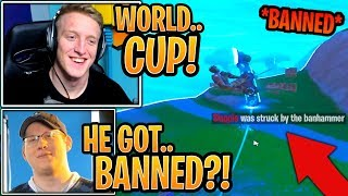 """Streamers Die & Spectate Unknown """"WORLD CUP"""" Player Get BANNED Midgame! - Fortnite Moments"""