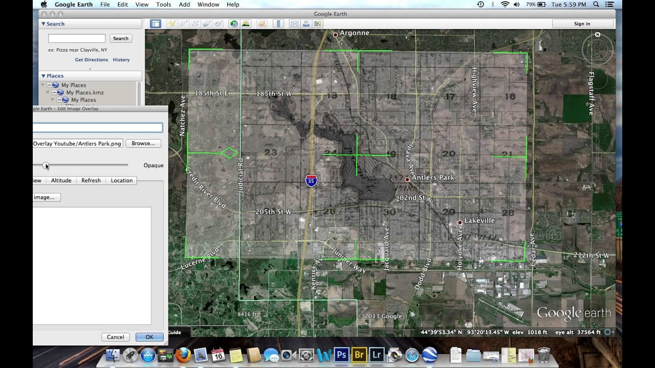 How to Overlay Plat Maps on Google Earth