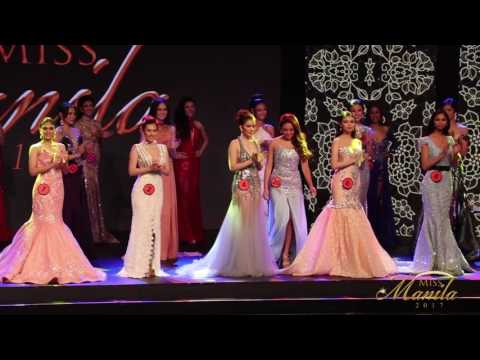 Miss Manila 2017: Evening Gown Competition & Announcement of Top 15