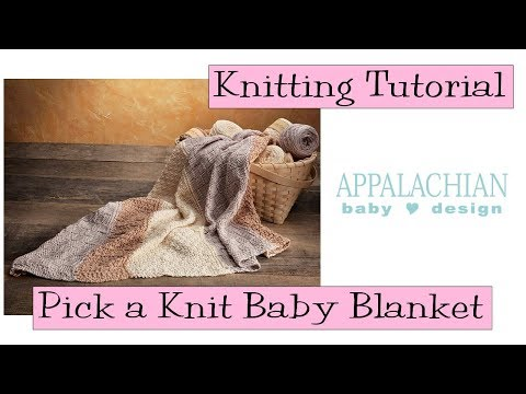 "Appalachian Baby Design ""Pick A Knit"" Blanket Tutorial"