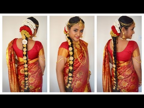 South Indian Tamil Bridal Hair & Jewellery in Tamil with Eng Subtitles | CheezzMakeup