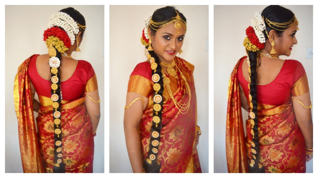 South Indian Tamil Bridal Hair & Jewellery in Tamil with ...