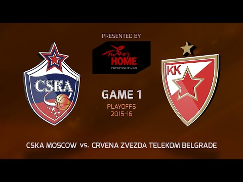Highlights: CSKA Moscow-Crvena Zvezda Telekom Belgrade, Game-1