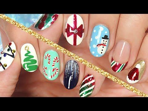 Decoraciones De Uñas Navidad 2017 10 Diseños Paso A Paso