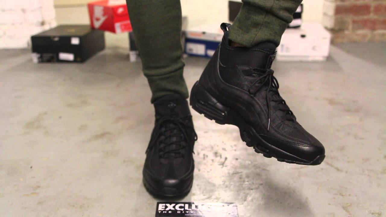 air max 95 sneakerboot on feet