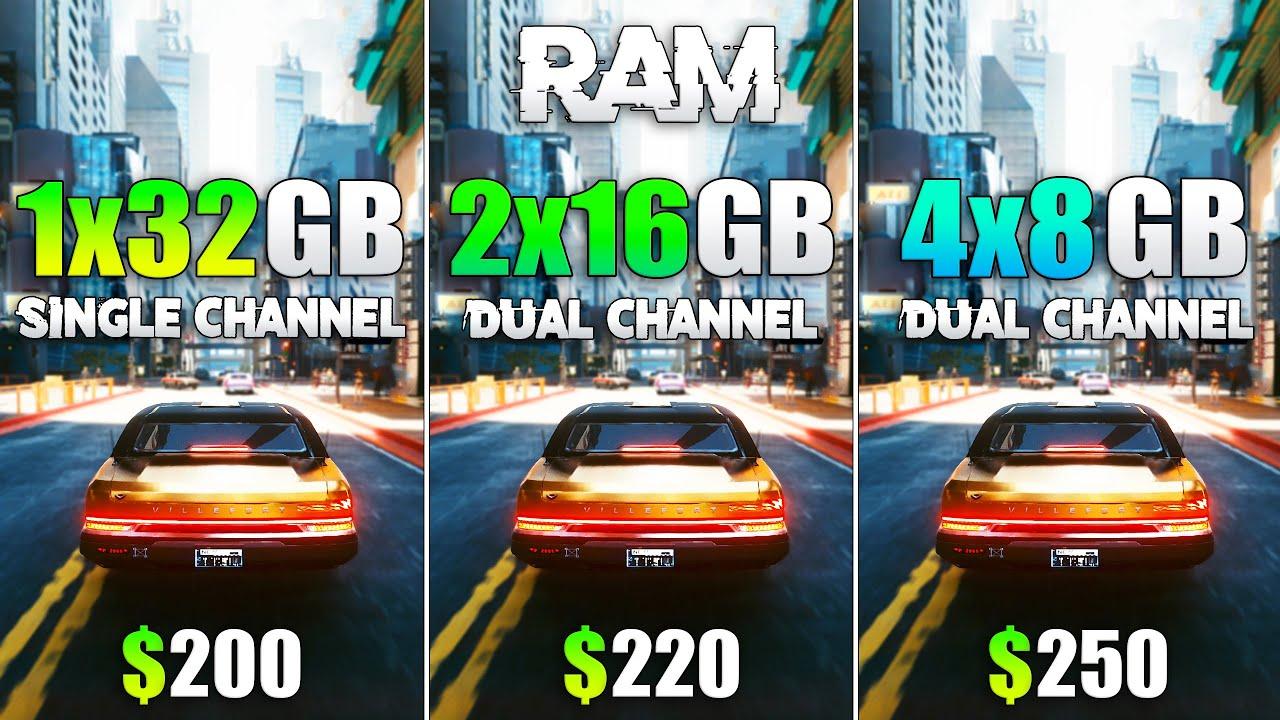 1x32GB vs 2x16GB vs 4x8GB - How Many RAM Modules are Optimal?