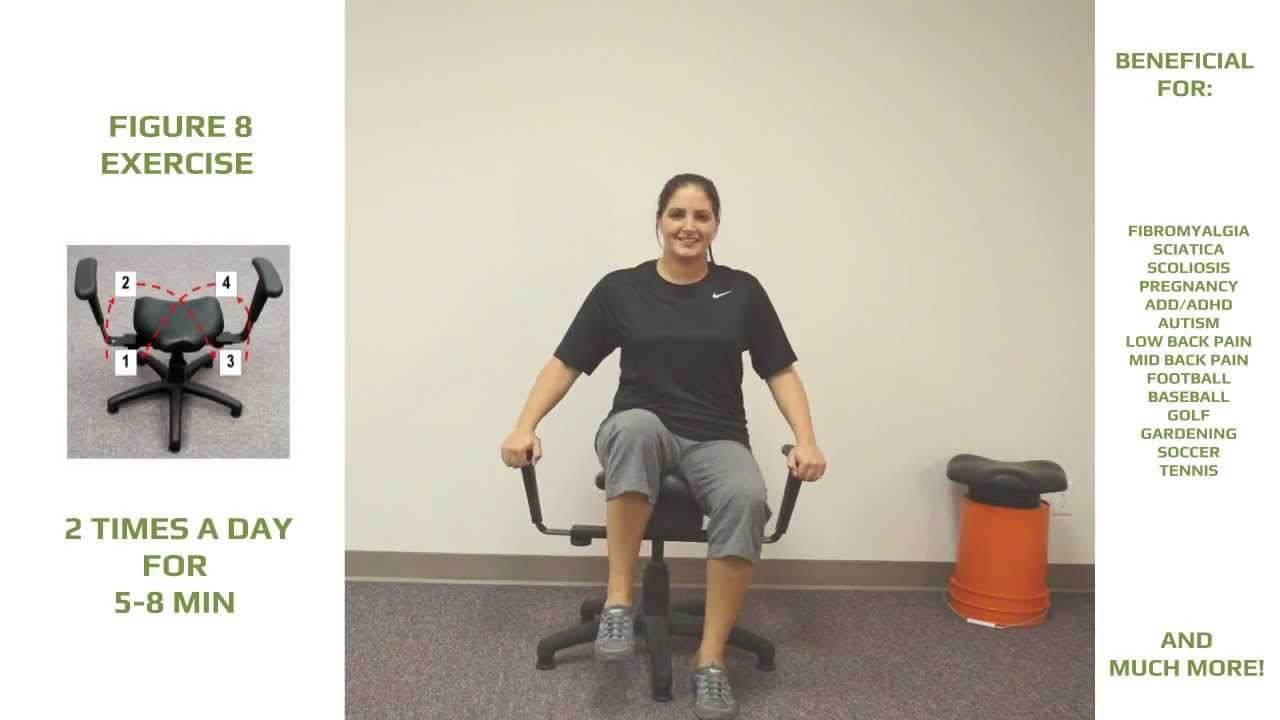 Portable Wobble Chair Exercises Poang How To Use The For Lower Back Pain Youtube
