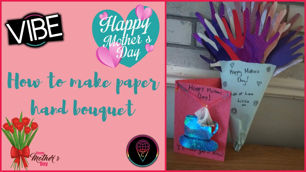 Mother's Day Craft: Paper Hand Bouquet
