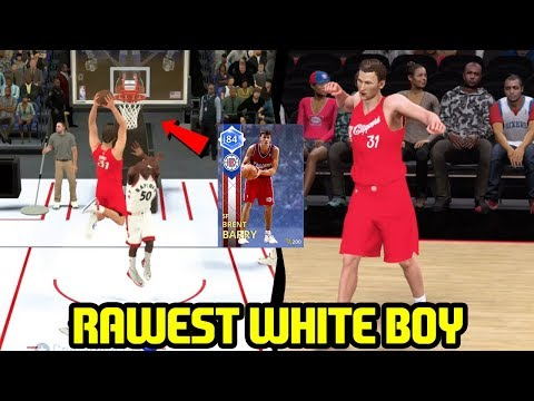 THE RAWEST WHITE BOY EVER! SAPPHIRE BRENT BARRY DUNK MACHINE! NBA 2K18 MYTEAM GAMEPLAY