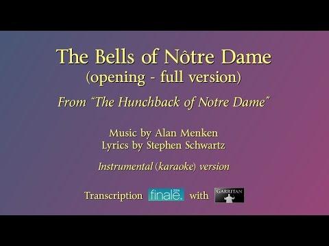 """The Bells of Notre Dame"" (opening) Full reconstruction version / karaoke / Finale with Garritan"