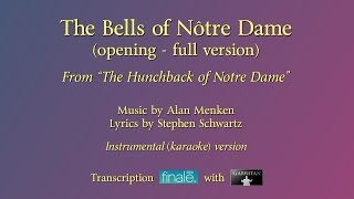 """The Bells of Notre Dame"" (opening) Full reconstruction version / karaoke / Finale with Garritan"