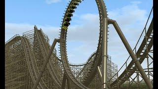 Roller Coaster Simulation No limits 2 PC Gameplay