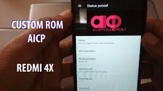 INSTALL/REVIEW CUSROM AICP 7.1.2 REDMI 4X