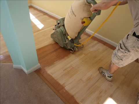 Engineered Hardwood Refinish Youtube