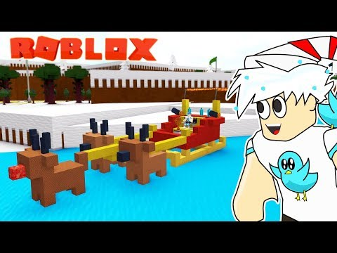 SANTA'S SLEIGH AND REINDEER BOAT / BUILD A BOAT TO TREASURE ROBLOX