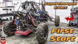 Supercharged 670cc Buggy First Start