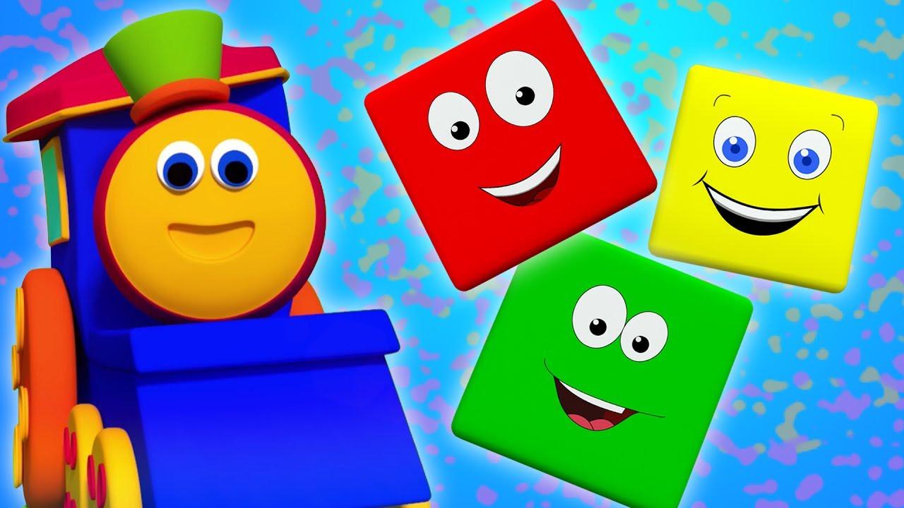bob kereta warna naik | Warna untuk anak-anak | Color Song | Bob Train Color Ride | Learn Colors
