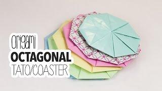 Origami Octagonal Tato / Origami Coaster Tutorial ♥︎ DIY ♥︎